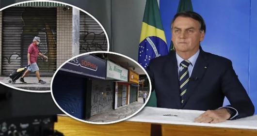 Bolsonaro mantém discurso genocida e diz que comércio deve abrir