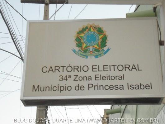 CARTÓRIO  DA JUSTIÇA ELEITORAL DA 34ª ZONA_PRINCESA ISABEL_ARQUIVO DO BLOG DO JOSÉ DUARTE LIMA