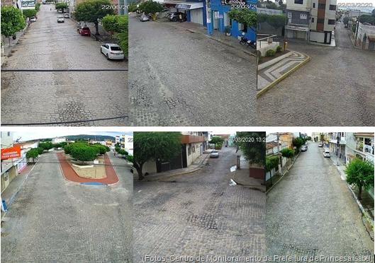 Centro de Princesa Isabel-Imagens do Centro de Monitoramento da Prefeitura
