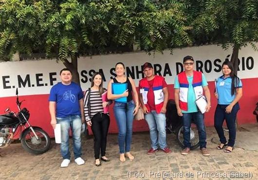 Inspeção da merenda escolar-Prefeitura de Princesa Isabel