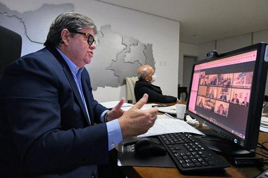 João Azevêdo_videoconferência com bolsonaro
