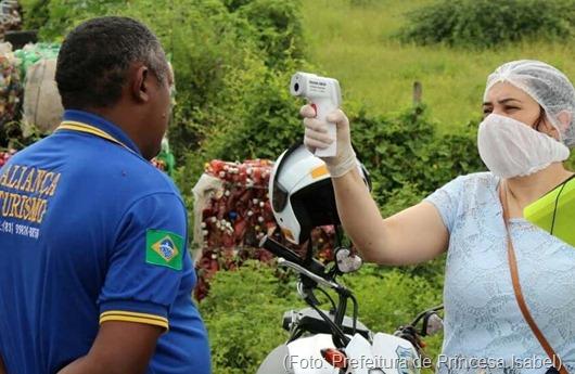 coronavírus_barreira sanitária-Prefeitura de Princesa Isabel