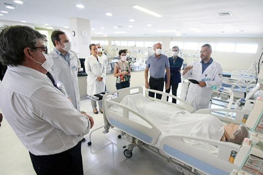 Azevêdo_vistoria_UTI_coronavírus_Hospital Metropolitano