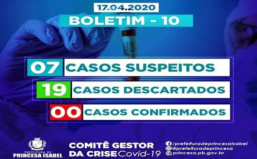 Boletim 10-Comitê Gestor da Crise Covid-19-Princesa Isabel