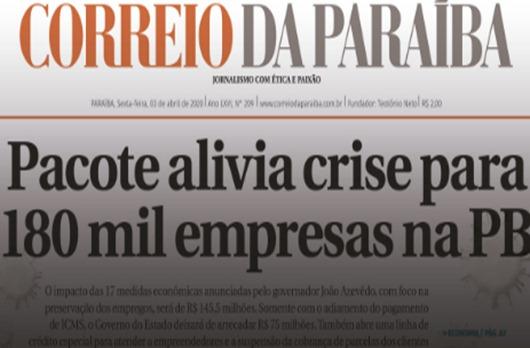 Correio da Paraíba_fechamento_demissão coletiva