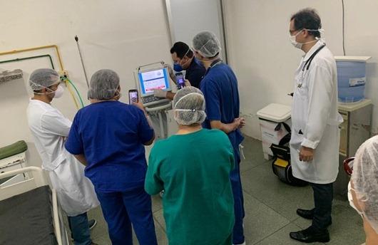 Equipe do Hospital de Patos_treinamento_ uso de ventiladores mecânicos