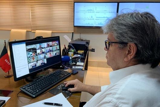 João Azevêdo_videoconferência_ministro da Saúde