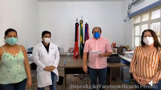 Ricardo Pereira_anúncio_1º caso de Covid-19