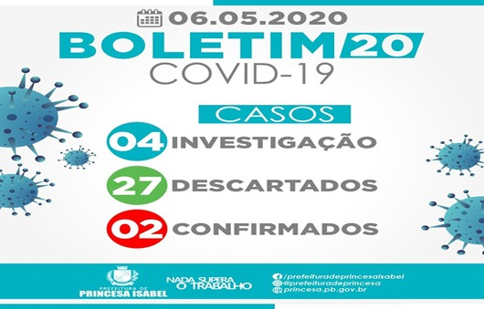 Boletim 20-Comitê Gestor da Crise Covid-19-Prefeitura de Princesa Isabel