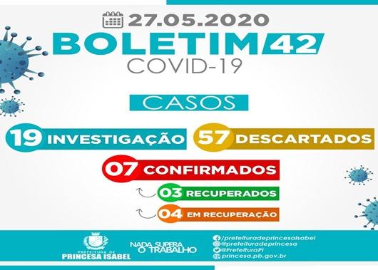 Boletim Covid-19-Prefeitura de Princesa Isabel