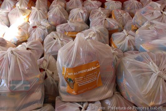 Distribuição de kits de alimentos e higiene-Prefeitura de Princesa Isabel