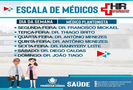 Escala de Médicos-HRPI-Prefeitura de Princesa Isabel