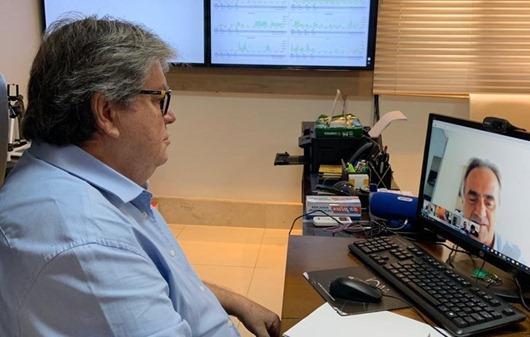 João Azevêdo_teleconferência_prefeitos da Grande João Pessoa