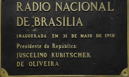 placa-Rádio Nacional de Brasília
