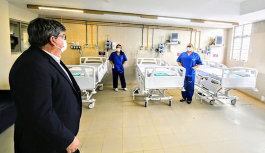 João Azevêdo_ entrega_hospital com 150 leitos para atender pacientes com Covid-19 em João Pessoa