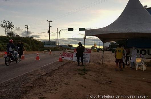 barreira sanitária-Prefeitura de Princesa Isabel