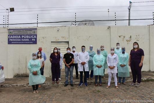 testagem rápida_detentos_Cadeia Pública de Princesa Isabel