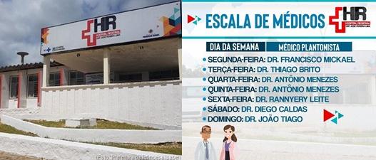 Escala de Médicos-Hospital REgional de Princesa Isabel