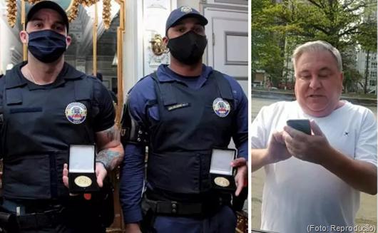 Guardas ofendidos e humilhados por desembargador recebem medalhas por conduta exemplar