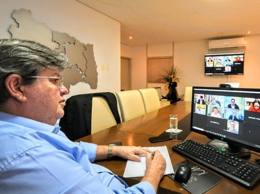João Azevêdo e governadores do Nordeste_Assembleia Geral virtual do Consórcio NE
