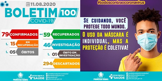 BOLETIM COVID-19_PREFEITURA DE PRINCESA ISABEL-11-08-2020