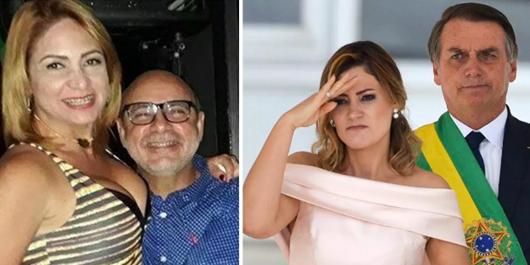 Márcia Aguiar, Fabrício Queiroz, Michelle Bolsonaro e Jair Bolsonaro