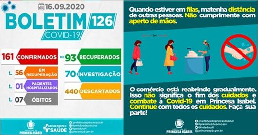 BOLETIM COVID-19-CAMPANHA DE PREVENÇÃO_SECRETARIA DE SAÚDE DE PRINCESA ISABEL