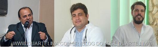 Ricardo Pereira, Dr. Alan e Sidney Filho