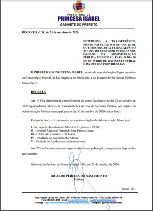 Decreto 38