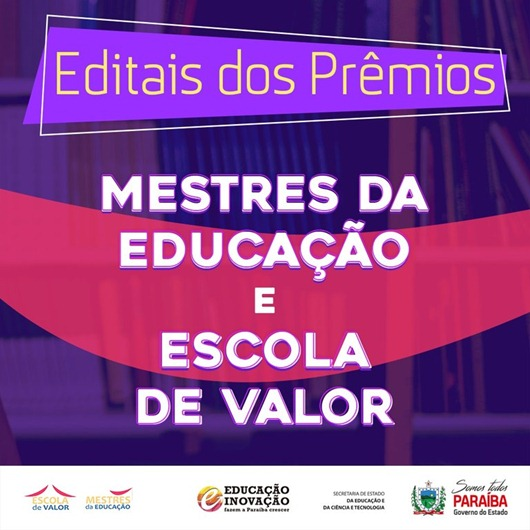 Editais_prêmios Mestres da Educação e Escola de Valor 2020