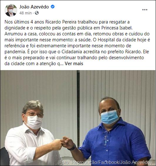 João Azevedo_apoio a Ricardo Pereira