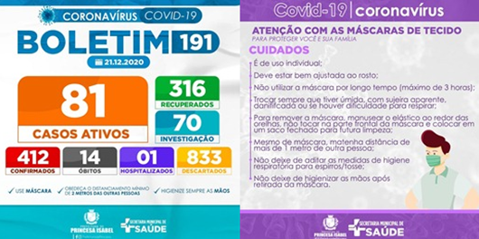 BLETIM COVID-19_CAMPANHA PREVENTIVA_SECRETARIA DE SAÚDE DE PRINCESA ISABEL