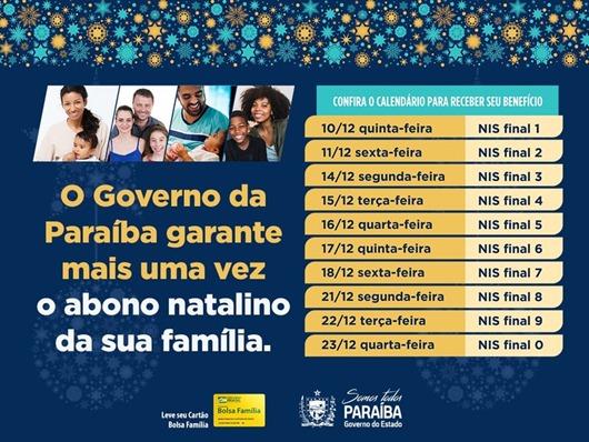 Governo da Paraíba_abono natalino