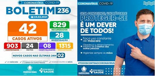 BOLETIM COVID-19_CAMPANHA PREVENTIVA_PREFEITURA DE PRINCESA ISABEL