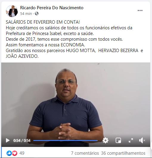 Ricardo Pereira_pagamento_Facebook