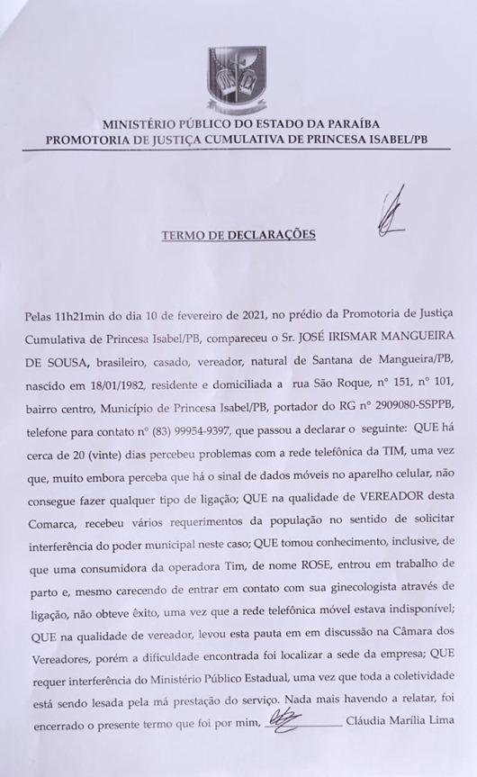 TD_vereador Irismar Mangueira