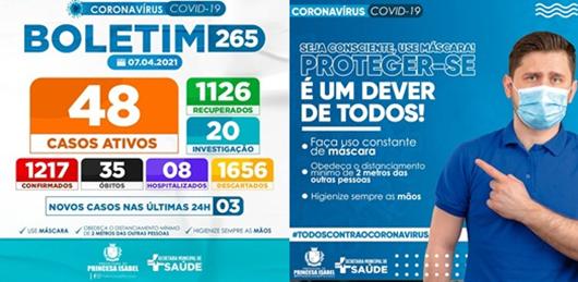 BOLETIM COVID-19_CAMPANHA PREVENTIVA_SECRETARIA DE SAÚDE DE PRNCESA ISABEL