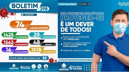 BOLETIM COVID-19_CAMPANHA PREVENTIVA_SECRETARIA DE SAÚDE DE PRINCESA ISABEL