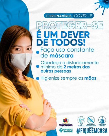 Prevenção Covid-19_Prefeitura de Princesa Isabel