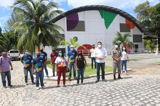servidores do Orçamento Democrático visitam obras no Centro de Educação da Polícia Militar