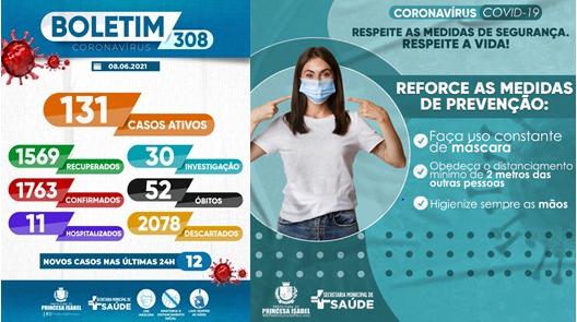 BOLETIM COVID-19_CAMPANHA PREVENTIVA-SECRETARIA DE SAÚDE DE PRINCESA ISABEL
