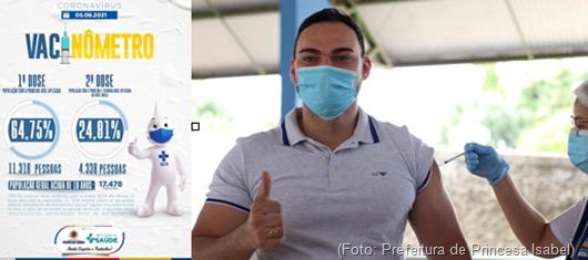 vacinômetro_Secretaria de Saúde de Princesa Isabel