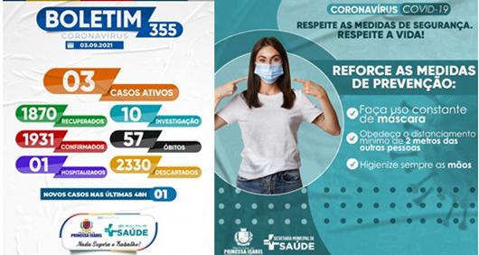 BOLETIM COVD-19_CAMPANHA PREVENTIVA_SECRETARIA DE SAÚDE DE PRINCESA ISABEL