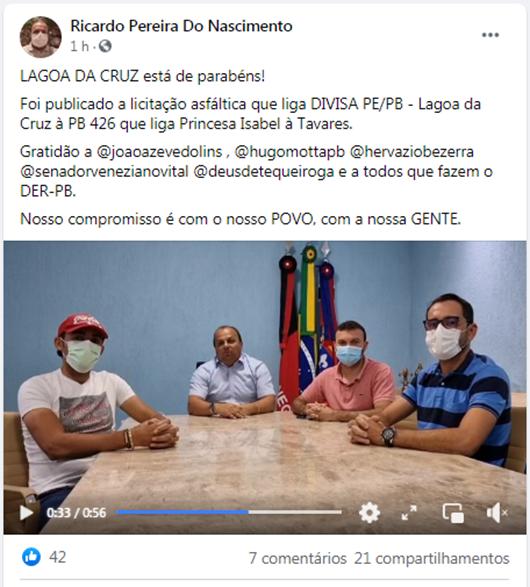 Ricardo Pereira_DER da Paraíba