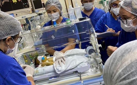 equipe da Maternidade Dr. Peregrino Filho salva vida de recém-nascido